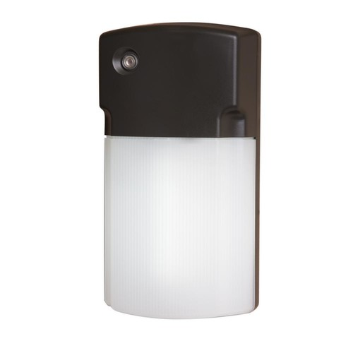 All-Pro Bronze Integrated LED Outdoor Wall Pack Light with Dusk to Dawn Photocell Sensor, 1100 Lumens, 5000K Daylight