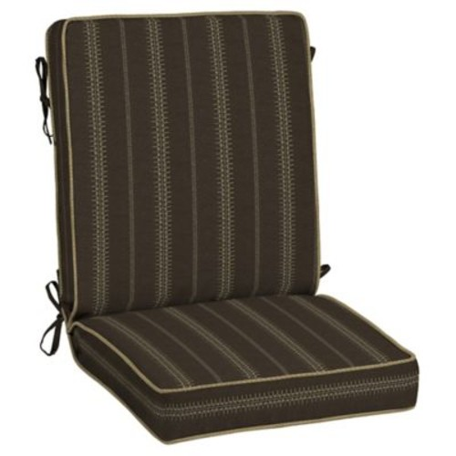 BombayOutdoors Trevor Stripe 2 Piece Outdoor Dining Chair Cushion Set