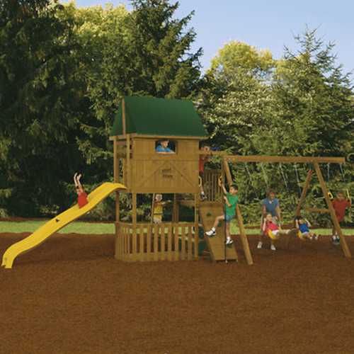 PlayStar Great Escape Factory Built Starter Swing Set
