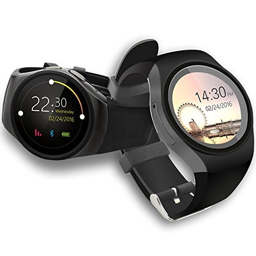 Indigi A18 (Android Compatible) SmartWatch & Phone + Heart Monitor + Pedometer + Dial/Receive Calls + Notifications & Txt Messages