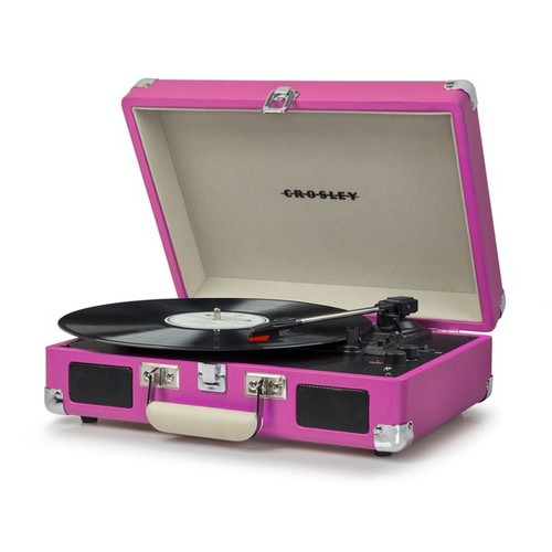 Cruiser Deluxe Bluetooth Turntable- Pink