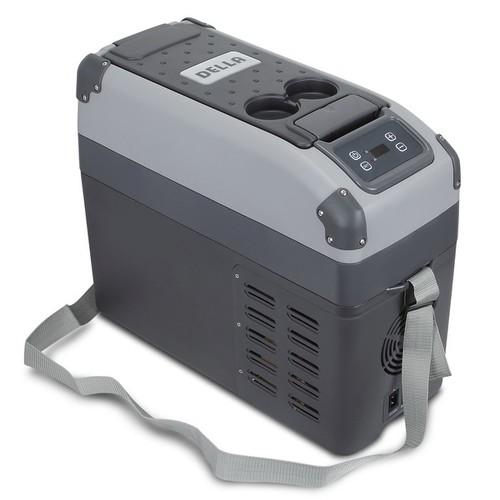 Della 16L Portable Refrigerator 12v Freezer Cooler Electric AC/DC Fridge USB Port and Adjustable Strap