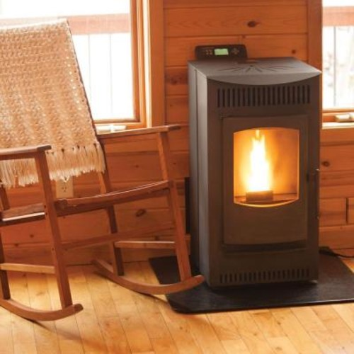 Castle 1,500 sq. ft. Pellet Stove with 40 lb. Hopper and Auto Ignition