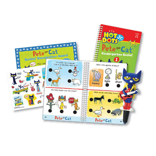 Educational Insights Hot Dots Jr. Pete the Cat Kindergarten Rocks! Set with Pete Pen