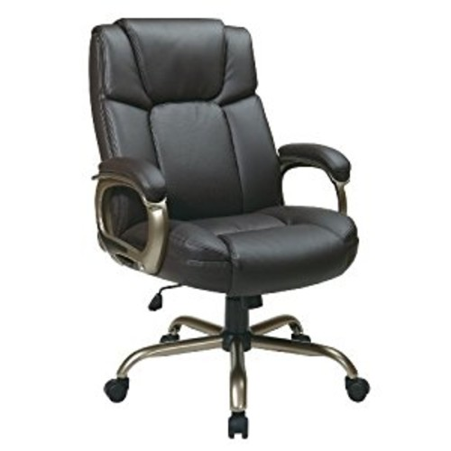 Office Star Executive Big Man's Chair with Eco Leather Seat and Back, Espresso [Espresso]