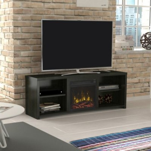 ClassicFlame Shelter Cove Electric Fireplace and TV Stand in Black Walnut