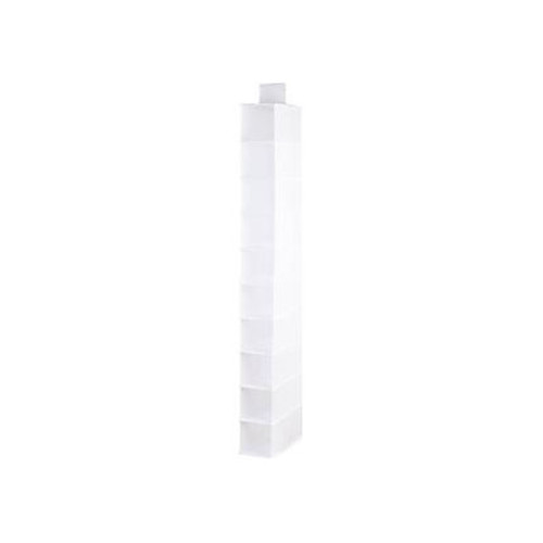 Honey-Can-Do SFT-01576 10-Shelf Hanging Vertical Closet Organizer, Cool White