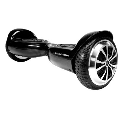 SWAGTRON T5 Entry Level Hoverboard for Kids and Young Adults; Optional Learning Mode; Patented Battery Protection [Black]