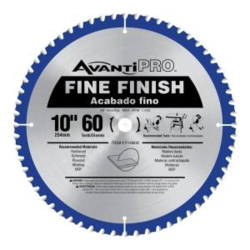 Avanti Pro 10 in. x 60-Tooth Fine Finish Saw Blade
