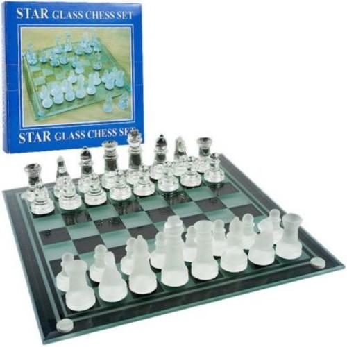 Trademark Poker Elegant Glass Chess And Checker Board Set (Poker15373)