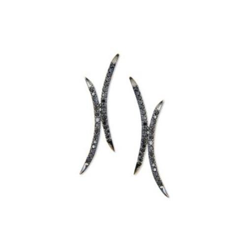 Reckless Mirage Black Diamond & 14K Black Gold Stud Earrings