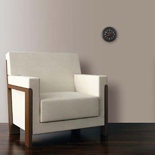 FirsTime Black Onyx Round Wall Clock, 8 1/2
