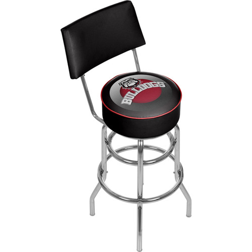 University of Georgia Swivel Bar Stool with Back - Honeycomb