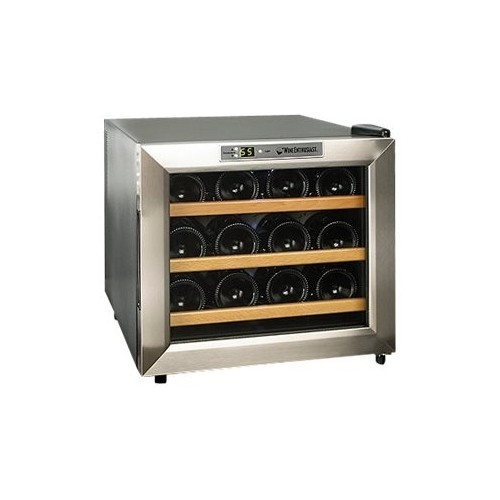 Wine Enthusiast 12-Bottle Stainless Steel Silent Wine Refrigerator
