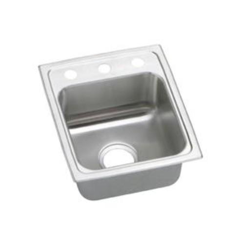 Elkay Pacemaker Drop-In Stainless Steel 15 in. 3-Hole Single Bowl Kitchen Sink