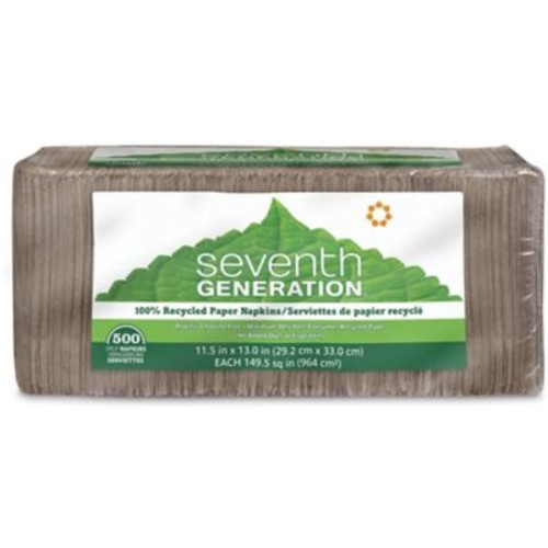 Seventh Generation Natural Unbleached 100% Recycled Napkins, 1-Ply, 500/Pack (13705)