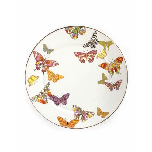 White Butterfly Garden Salad Plate