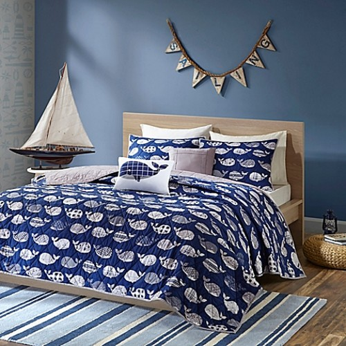 Urban Habitat Moby 4-Piece Twin/Twin XL Coverlet Set in Navy