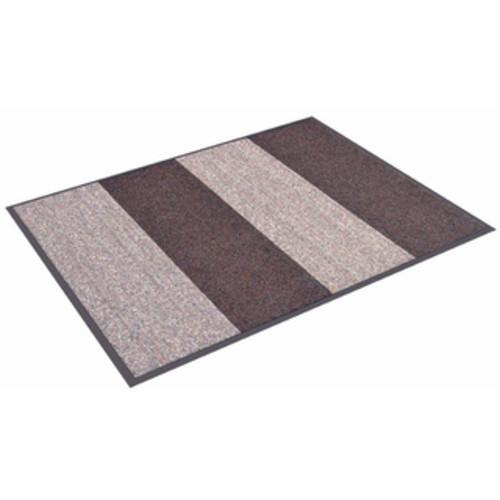 HomeTrax Designs Textura Stripe Door Mat (3' x 4') [option : Brown]