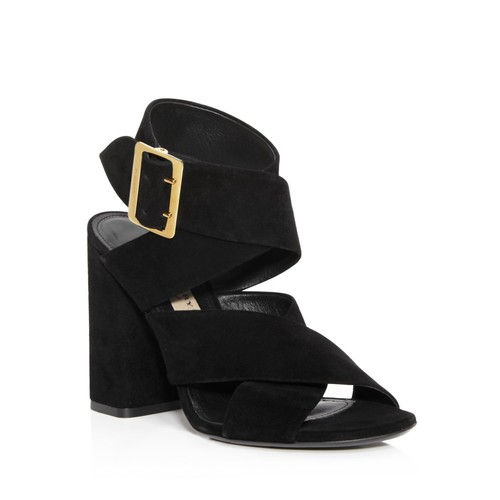 BURBERRY Blaine High Block Heel Sandals