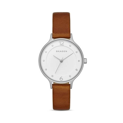 Anita Leather Strap Watch, 30mm