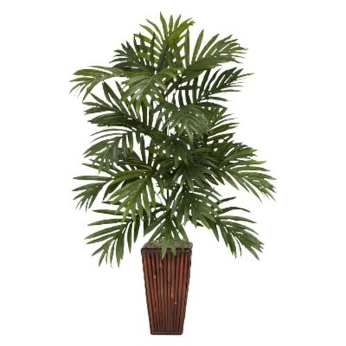 Nearly Natural Areca Palm w/Bamboo Vase Silk Plant