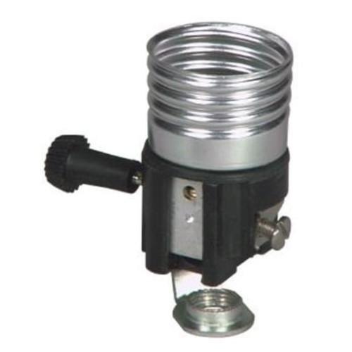 Pass & Seymour 7090MH 3-Way Turn-Knob Incandescent Metal Shell Lampholder