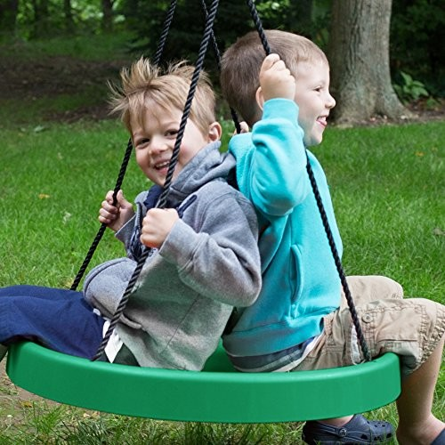 Super Spinner Swing--Fun, Easy to Install on Swing Set or Tree!: Toys & Games [Green, Super Spinner]