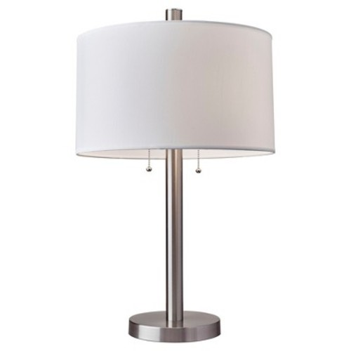 Boulevard Table Lamp - Satin Steel