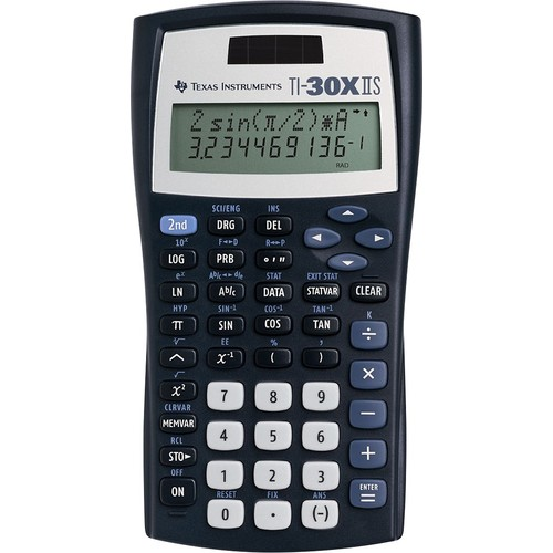 Texas Instruments TI-30X IIS 2-Line Scientific Calculator, Black with Blue Accents [Black, 1]