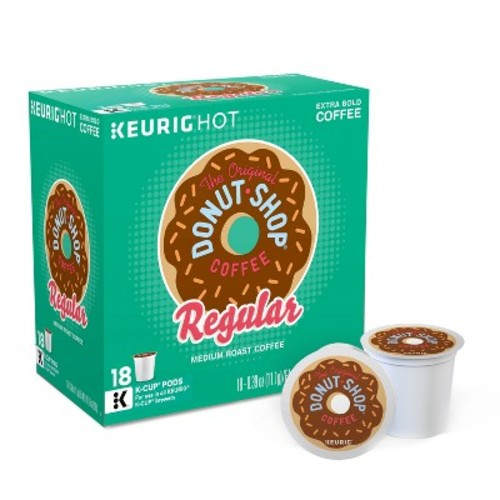 The Original Donut Shop Medium Roast Coffee Keurig K-Cup Pods - 18ct
