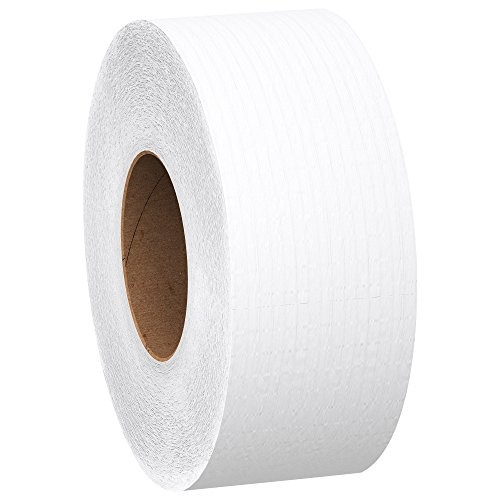 Scott Jumbo Roll (JR) Commercial Toilet Paper (07223), 1-PLY, White, 12 Rolls / Case, 2,000' / Roll