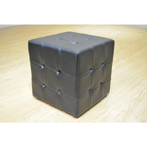 Greatime Ottomans & Storage Ottomans Greatime Vinyl Tufted Cube Ottoman