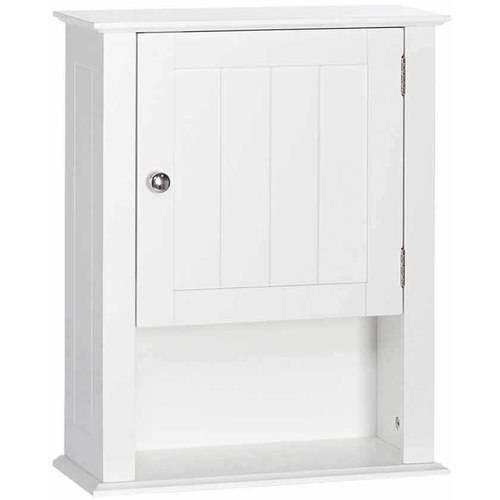 RiverRidge Home Ashland 16-1/2 in. W x 20 in. H x 7 in. D Bathroom Storage Wall Cabinet in White
