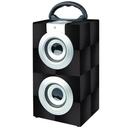 Naxa NAS-3077 Bluetooth Stereo System, 3.4W RMS Power, Single, Black Pattern NAS-3077
