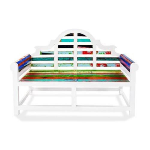 EcoChic Lifestyles Atlantis Garden Reclaimed Wood Bench