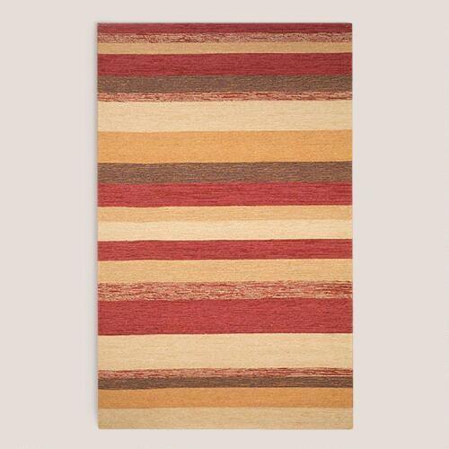Red Striped Indoor-Outdoor Rug