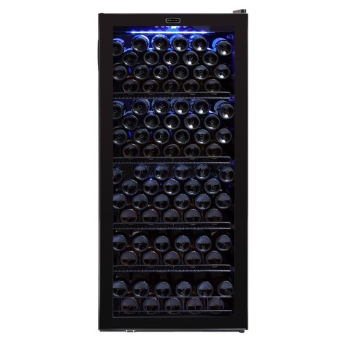 Whynter Whynter 23.5 in. 124 standard (750 ml) Bottle Freestanding Wine Cooler