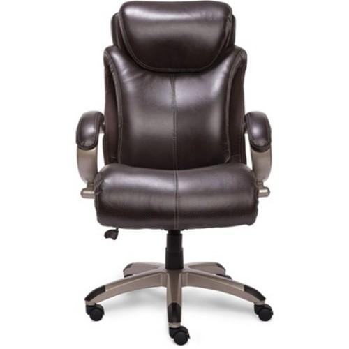 AIR Health & Wellness Big & Tall Executive Chair Brown Leather - Serta
