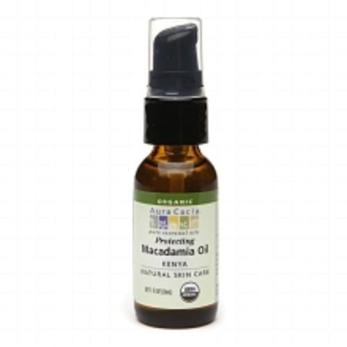 Aura Cacia Organic Skin Care Oil Moisturizing Macadamia 1.0fl oz