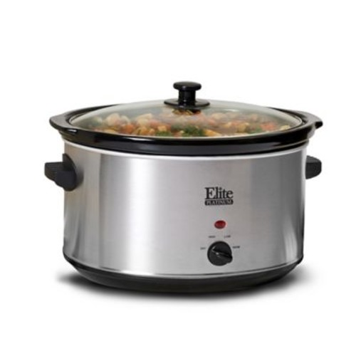 Elite by Maxi-Matic Platinum 8.5-Quart Stainless Steel Slow Cooker