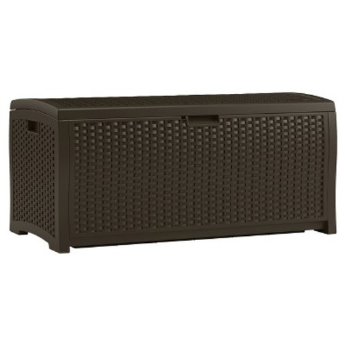 Resin Wicker Deck Box 73 Gallon - Brown - Suncast