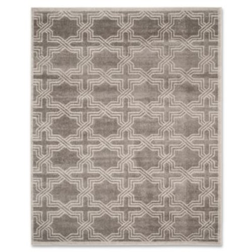 Safavieh Amherst Derry 8-Foot x 10-Foot Indoor/Outdoor Area Rug in Anthracite/Ivory