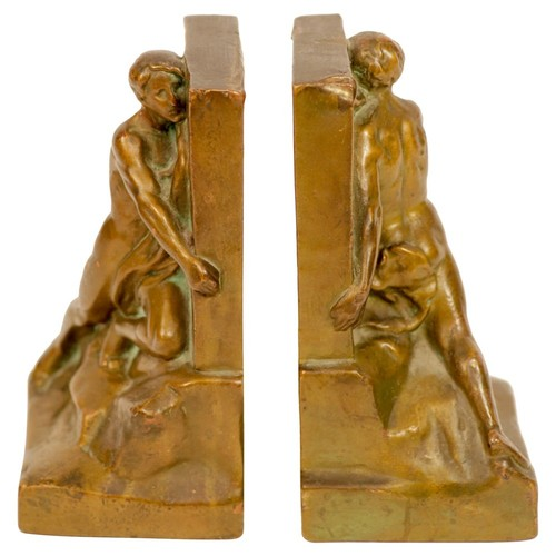 The Builder Bronze Bookends