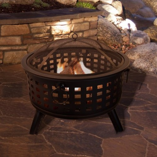 Round Steel Wood Burning Fire Pit