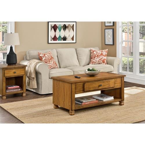 Ameriwood Home San Antonio Wood Veneer Coffee Table - Golden Brown