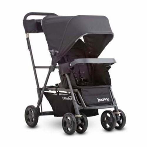 Joovy Caboose Ultralight Graphite Stand-On Tandem Stroller in Black