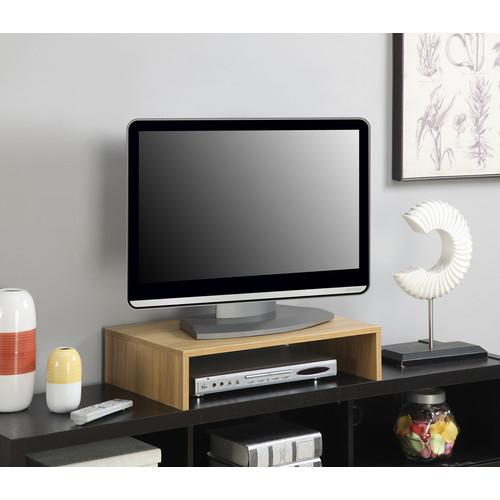 Convenience Concepts Small Monitor Riser, Light Oak