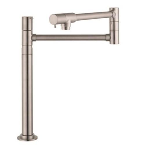 Hansgrohe Talis S Single Handle Deck Mounted Pot-Filler Faucet; Steel Optik