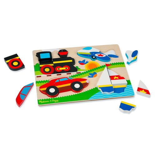 Melissa & Doug Vehicles Chunky Jigsaw Puzzle